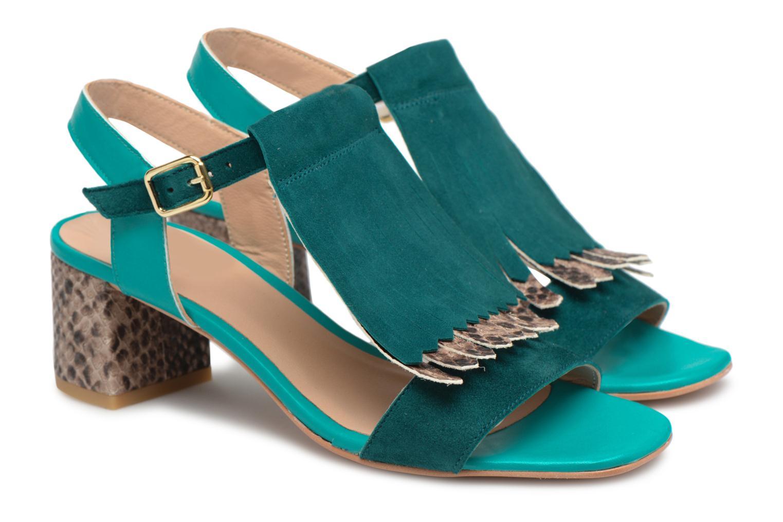 Sandales et nu-pieds Made by SARENZA Carioca Crew Sandales à Talons #2 Vert vue derrière