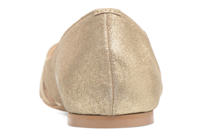 Ballerines Georgia Rose Cordou Or et bronze vue droite