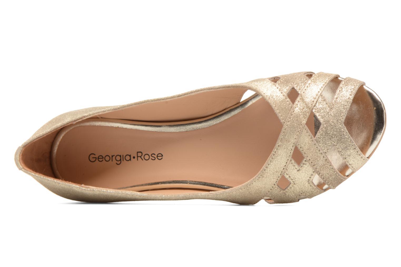 Ballerines Georgia Rose Cordou Or et bronze vue gauche