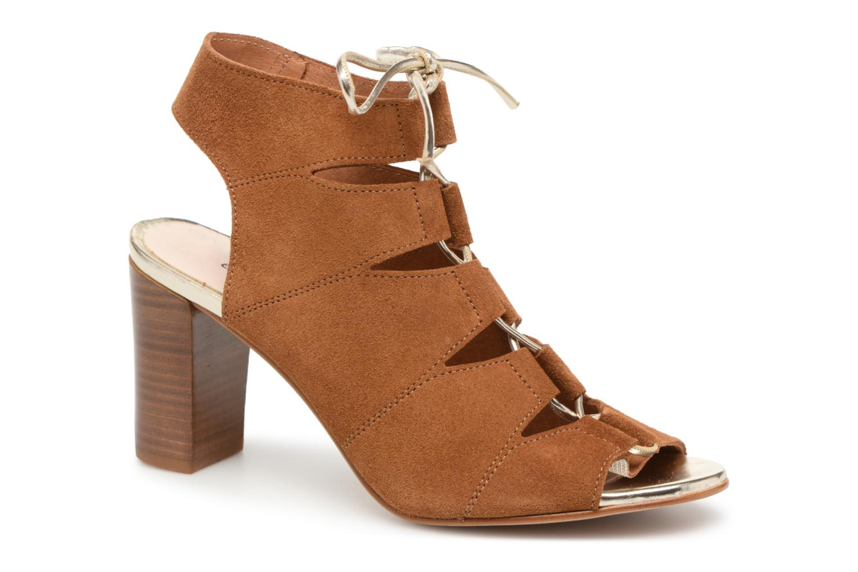 Sandales et nu-pieds Georgia Rose Calista Marron vue détail/paire