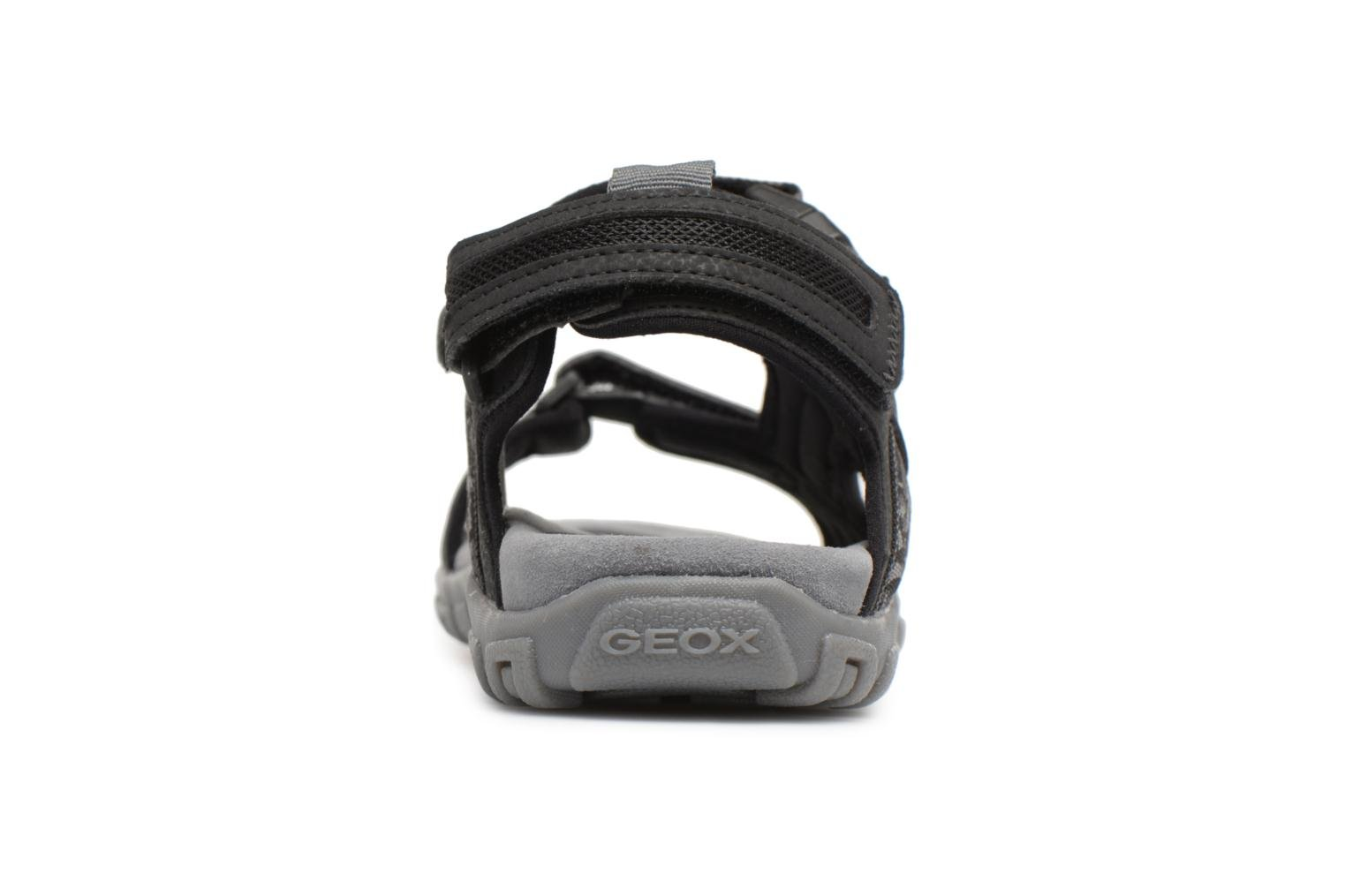 Sandals Geox U S.STRADA A U8224A Black view from the right