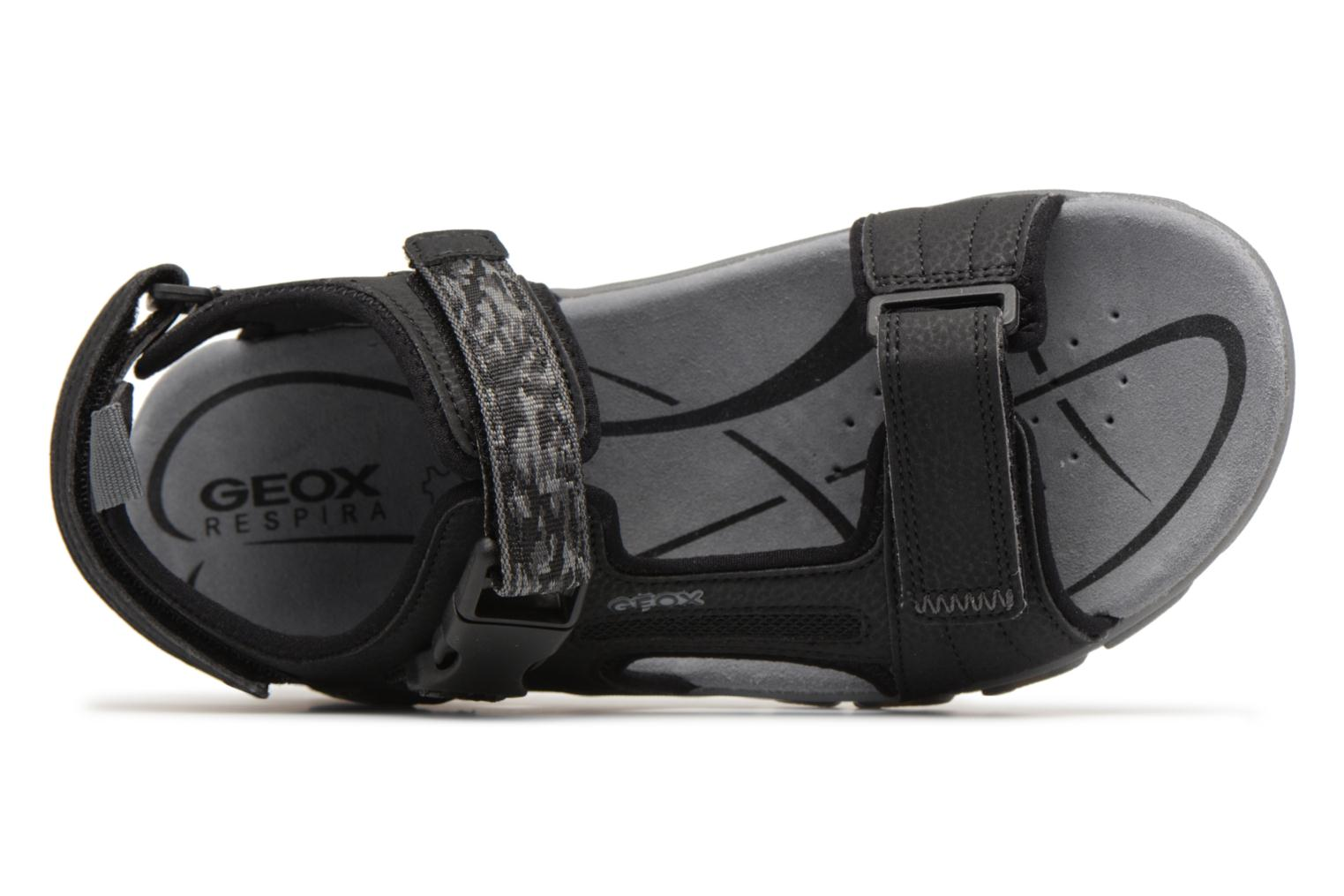 Sandals Geox U S.STRADA A U8224A Black view from the left