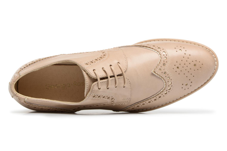 Chaussures à lacets Georgia Rose Nissa Beige vue gauche