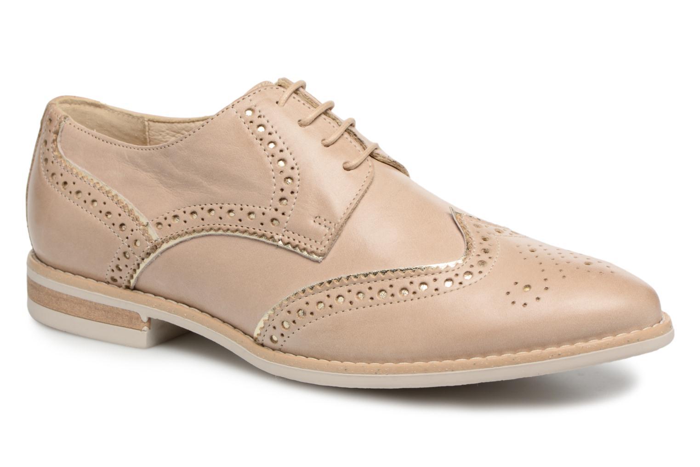 Chaussures à lacets Georgia Rose Nissa Beige vue détail/paire