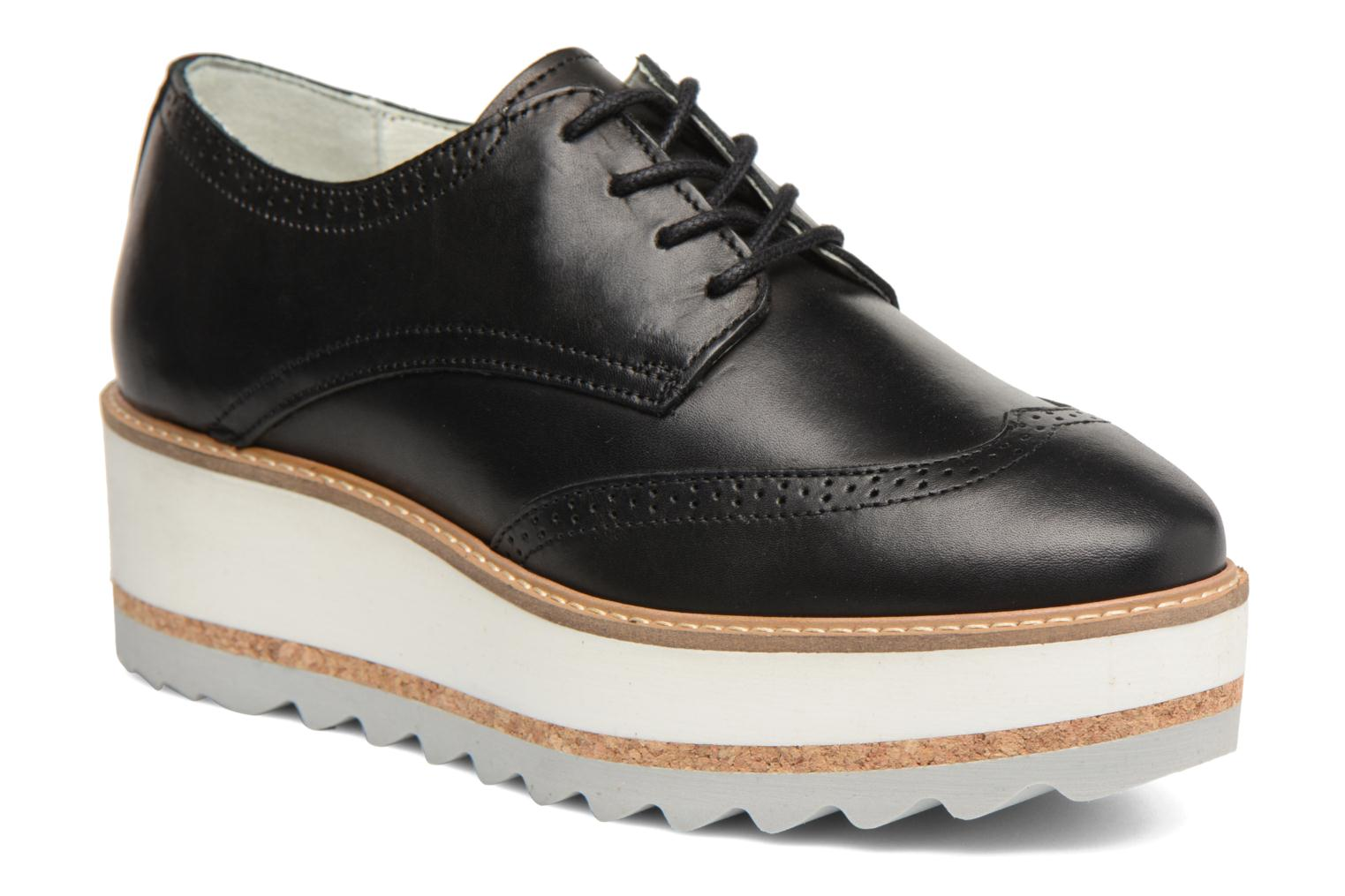 Lace-up shoes Bullboxer MONICA Black detailed view/ Pair view