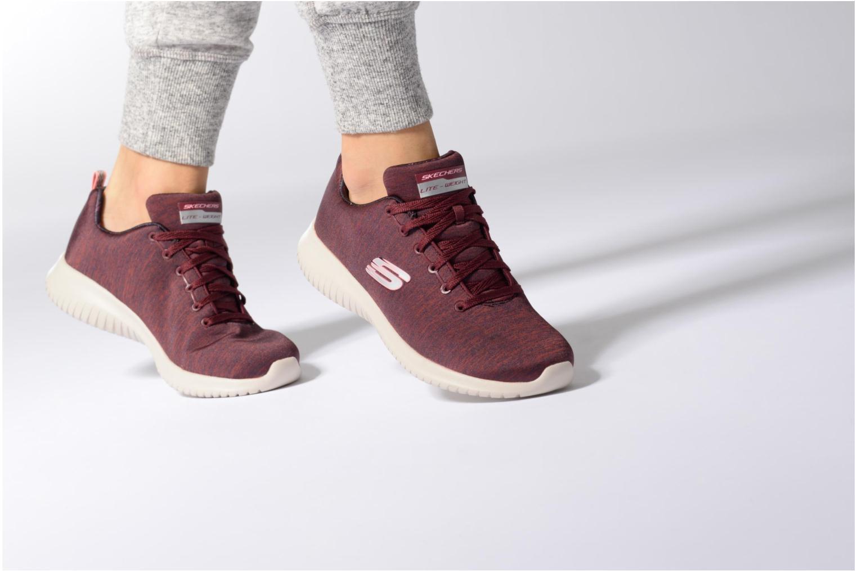 Chaussures de sport Skechers Ultra Flex-First Choice Bleu vue bas / vue portée sac
