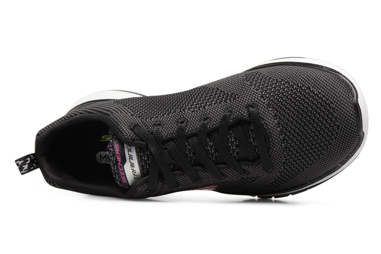Chaussures de sport Skechers Burst Tr-Close Knit Noir vue gauche