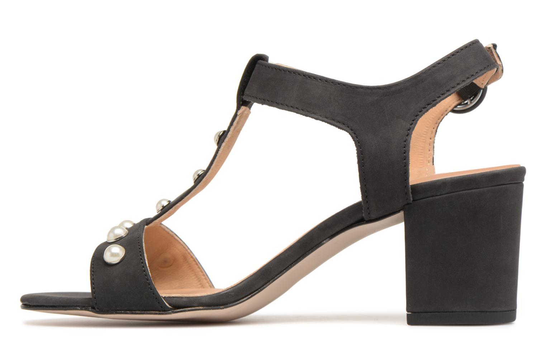 Sandales et nu-pieds Georgia Rose Lyperla Noir vue face