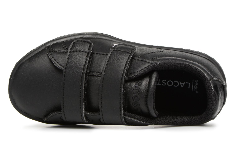 Baskets Lacoste Carnaby Evo 118 4 Inf Noir vue gauche