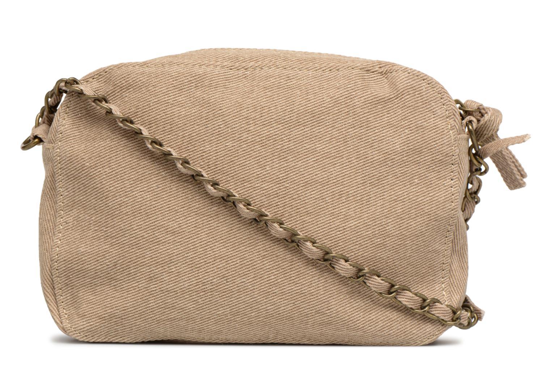 Handtassen Pieces Gitta Canvas Crossbody Beige voorkant