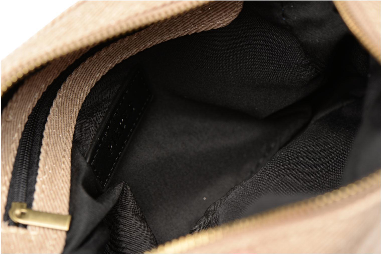 Handtassen Pieces Gitta Canvas Crossbody Beige achterkant