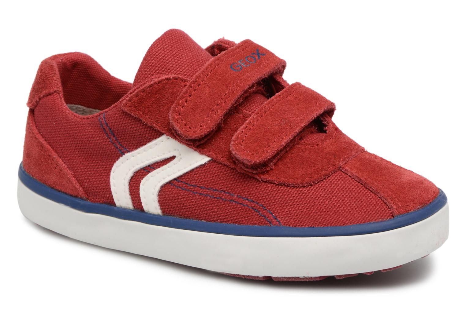 Trainers Geox B KILWI B. G B82A7G Red detailed view/ Pair view