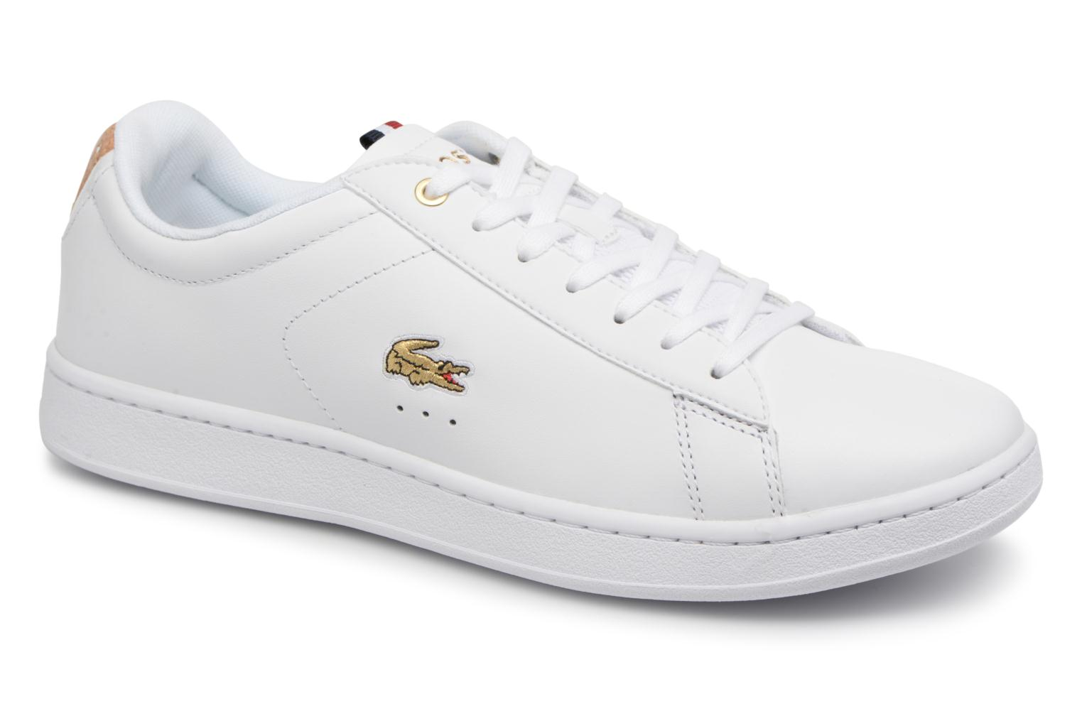 Trainers Lacoste CARNABY EVO 118 3 White detailed view/ Pair view
