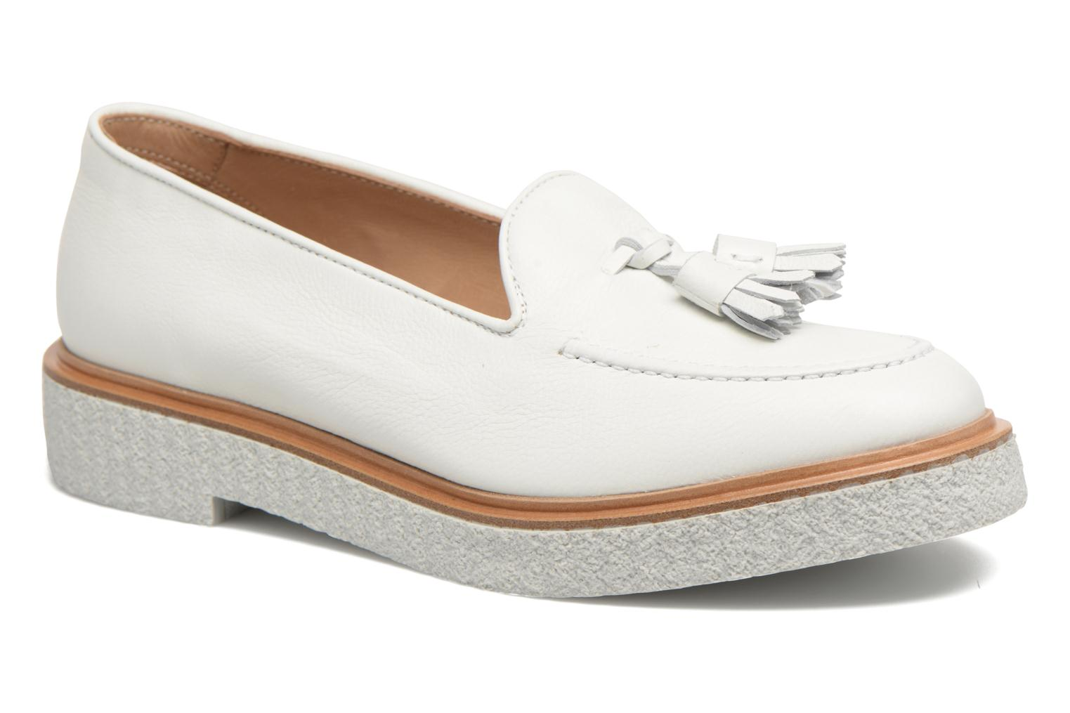 Loafers Fratelli Rossetti Lazu White detailed view/ Pair view