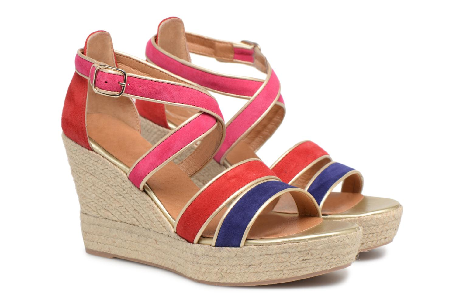 Cuir Babes Multico by Bombays 3 Made Espadrilles SARENZA Velours WPYq1tAUx