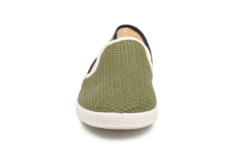 Mocassins Rivieras Phocea Vert vue portées chaussures