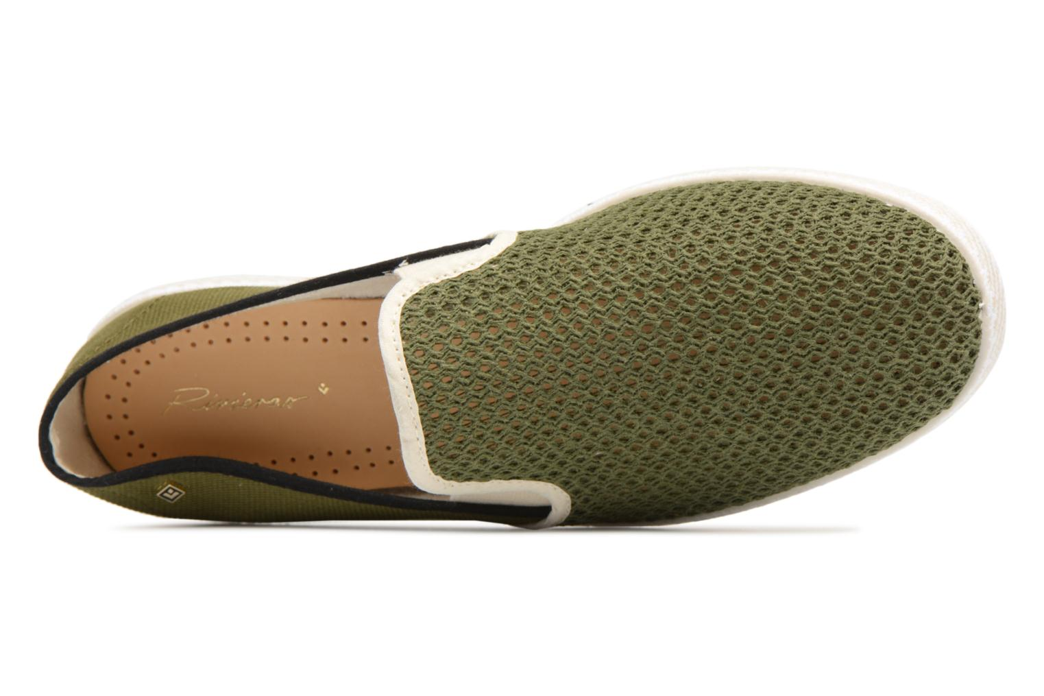 Loafers Rivieras Phocea Green view from the left