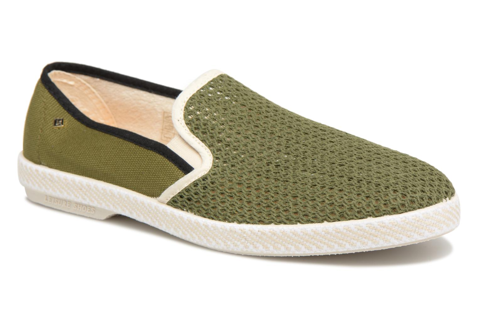 Loafers Rivieras Phocea Green detailed view/ Pair view