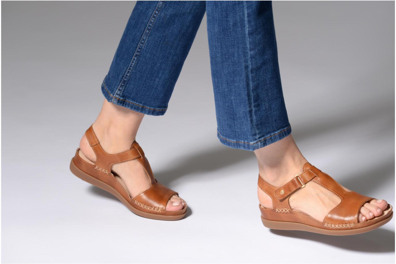 Sandales et nu-pieds Pikolinos CADAQUES W8K / 0578 brandy Marron vue bas / vue portée sac
