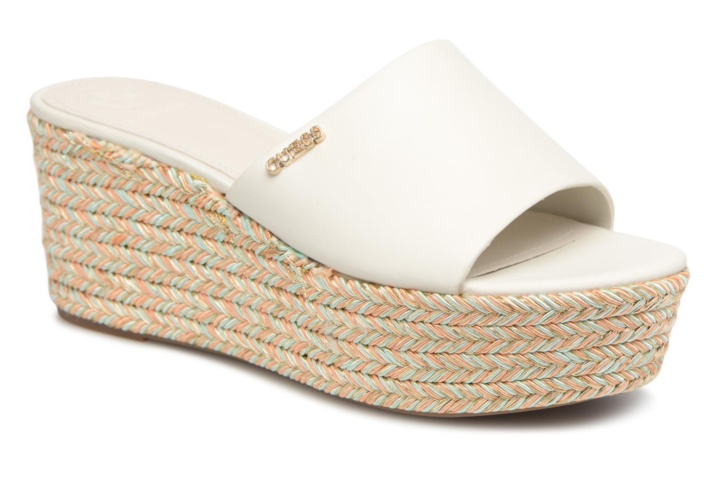 Grandes descuentos últimos zapatos Guess LENORE (Blanco) - Zuecos Descuento