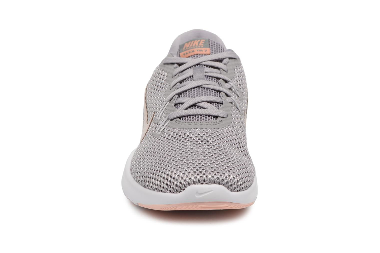 Chaussures de sport Nike W Nike Flex Trainer 7 Print Blanc vue portées chaussures