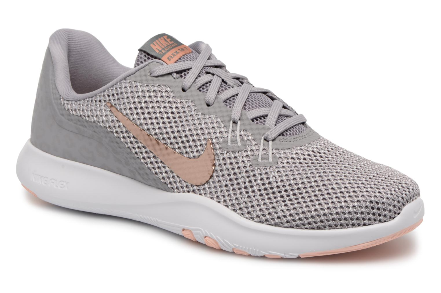 W Nike Flex Trainer 7 Print Atmosphere Grey/Mtlc Red Bronze