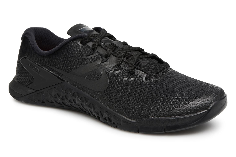 Sport shoes Nike Nike Metcon 4 Black detailed view/ Pair view
