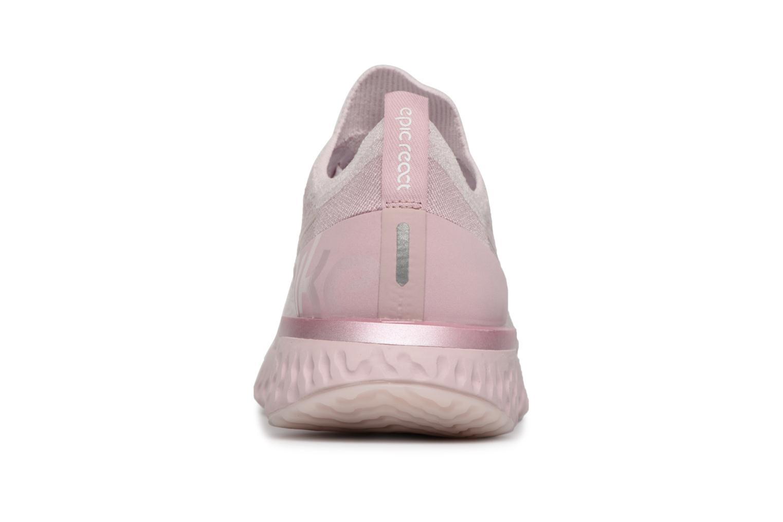 Chaussures de sport Nike Nike Epic React Flyknit Rose vue droite