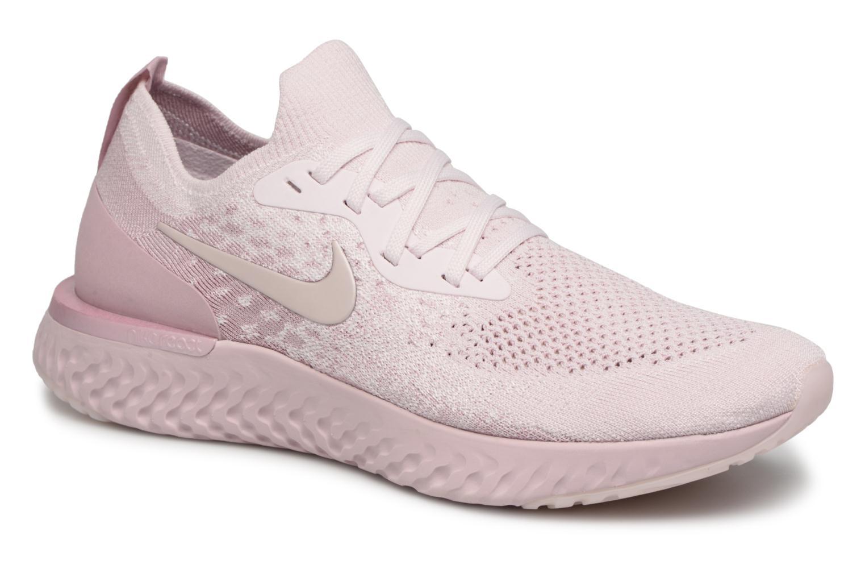 Chaussures de sport Nike Nike Epic React Flyknit Rose vue détail/paire