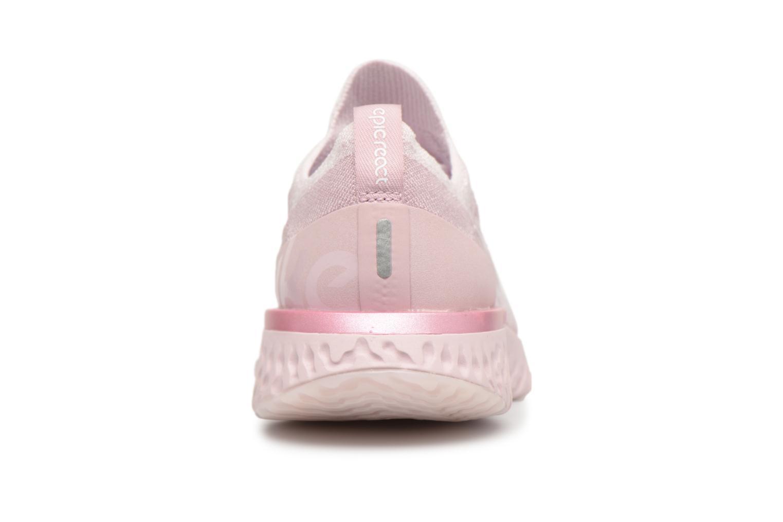 Chaussures de sport Nike Wmns Nike Epic React Flyknit Rose vue droite
