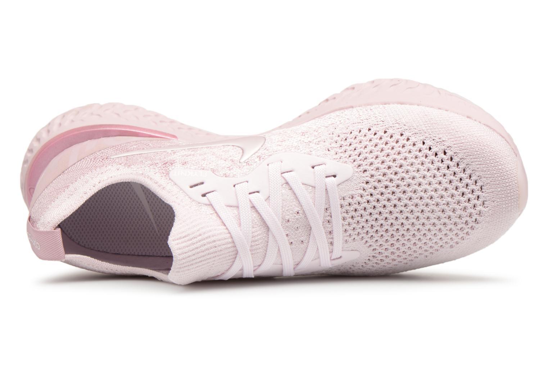 Chaussures de sport Nike Wmns Nike Epic React Flyknit Rose vue gauche