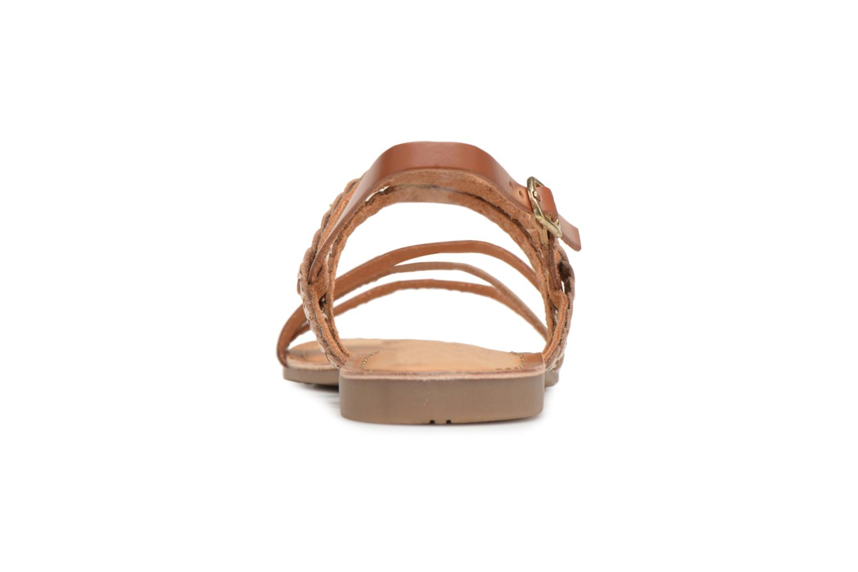 Sandales et nu-pieds Gioseppo Focaze Or et bronze vue droite