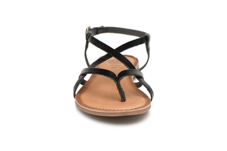Sandales et nu-pieds Gioseppo Bomuto Noir vue portées chaussures