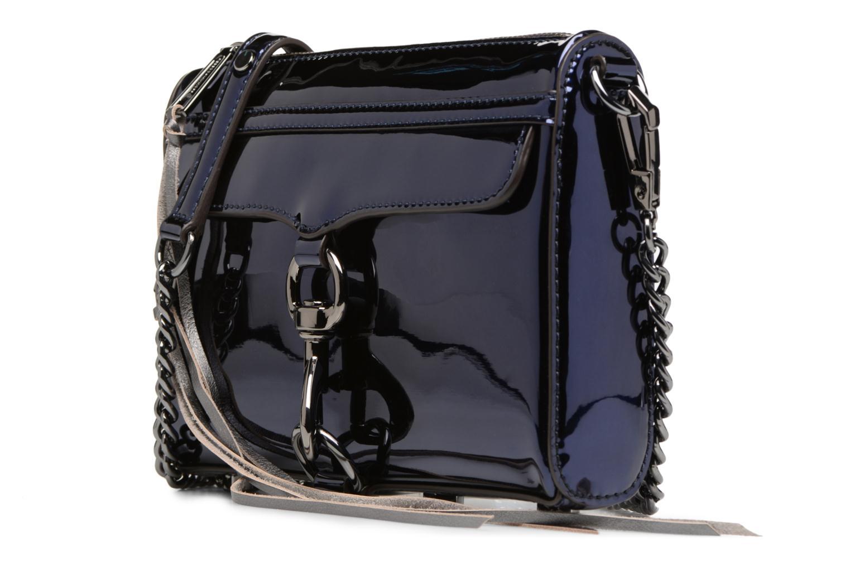Handtaschen Rebecca Minkoff MIRRORED METALLIC MINI MAC blau schuhe getragen