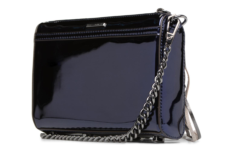 Handtaschen Rebecca Minkoff MIRRORED METALLIC MINI MAC blau ansicht von rechts