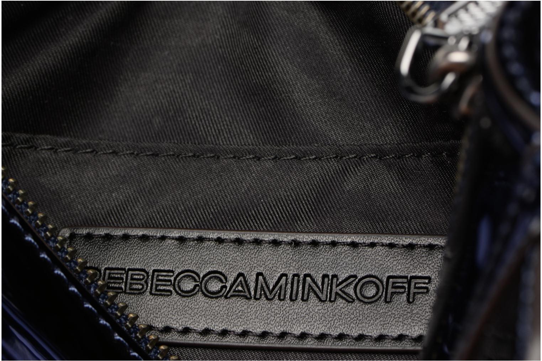 Sacs à main Rebecca Minkoff MIRRORED METALLIC MINI MAC Bleu vue derrière