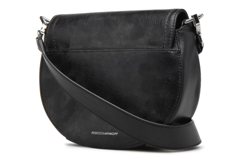 Handtaschen Rebecca Minkoff MEDIUM PARIS SADDLE BAG schwarz ansicht von rechts