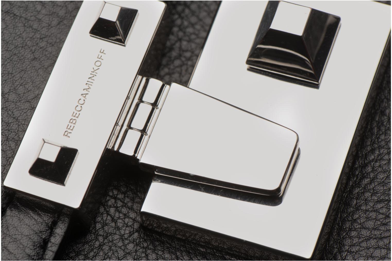 Handtaschen Rebecca Minkoff MEDIUM PARIS SADDLE BAG schwarz ansicht von hinten