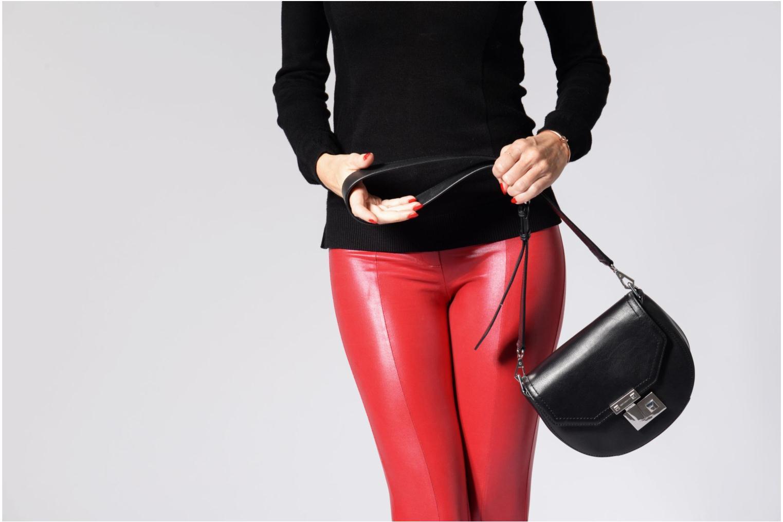 Handtaschen Rebecca Minkoff MEDIUM PARIS SADDLE BAG schwarz ansicht von oben