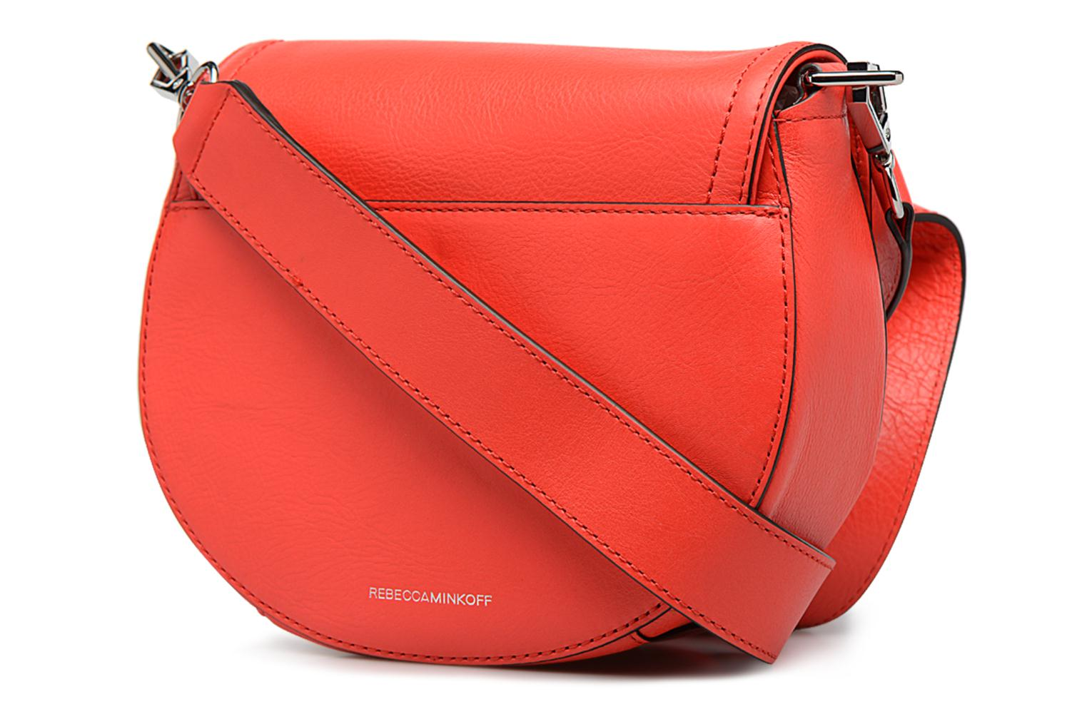 Sacs à main Rebecca Minkoff PARIS SADDLE BAG Orange vue droite