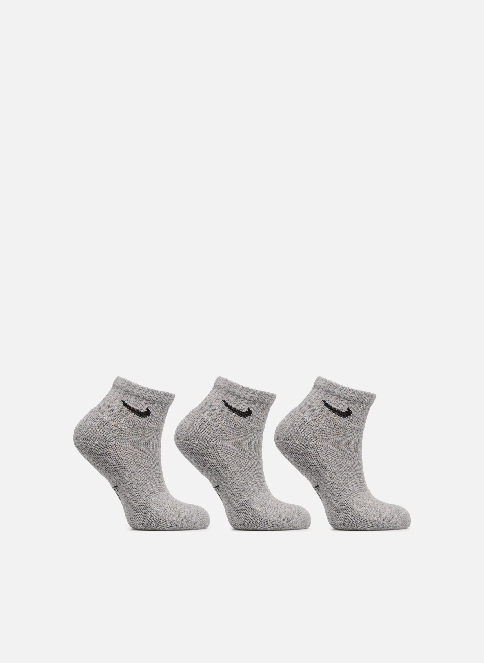 Kids' Nike Performance Cushioned Quarter Training Socks 3PR