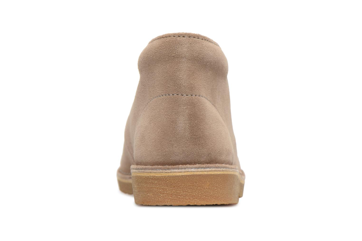 Lace-up shoes Clarks Desert Boot K Beige view from the right