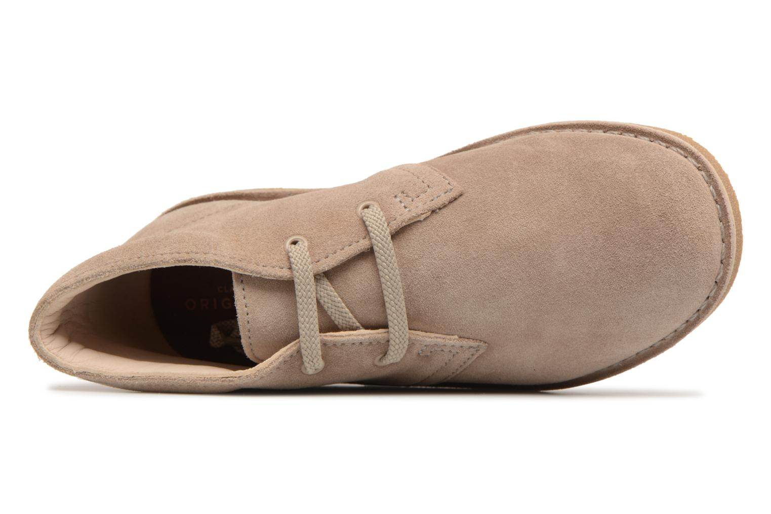 Lace-up shoes Clarks Desert Boot K Beige view from the left