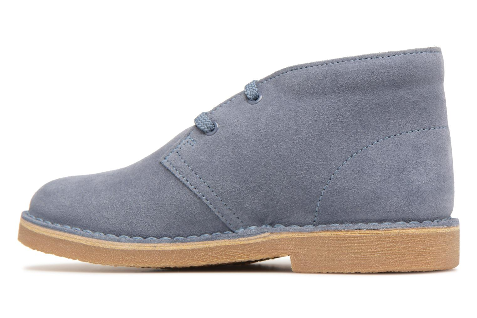 Lace-up shoes Clarks Desert Boot K Blue front view
