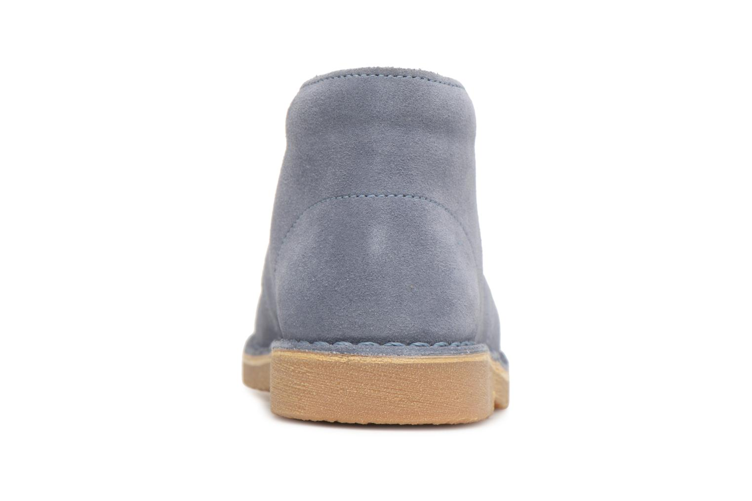 Lace-up shoes Clarks Desert Boot K Blue view from the right