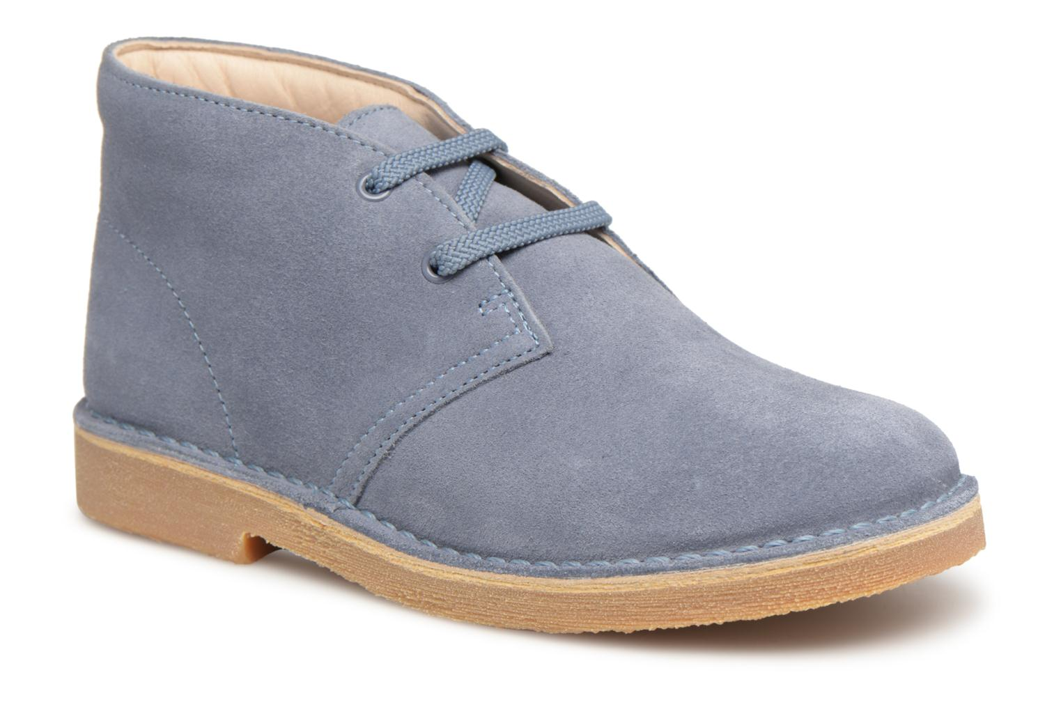 Lace-up shoes Clarks Desert Boot K Blue detailed view/ Pair view
