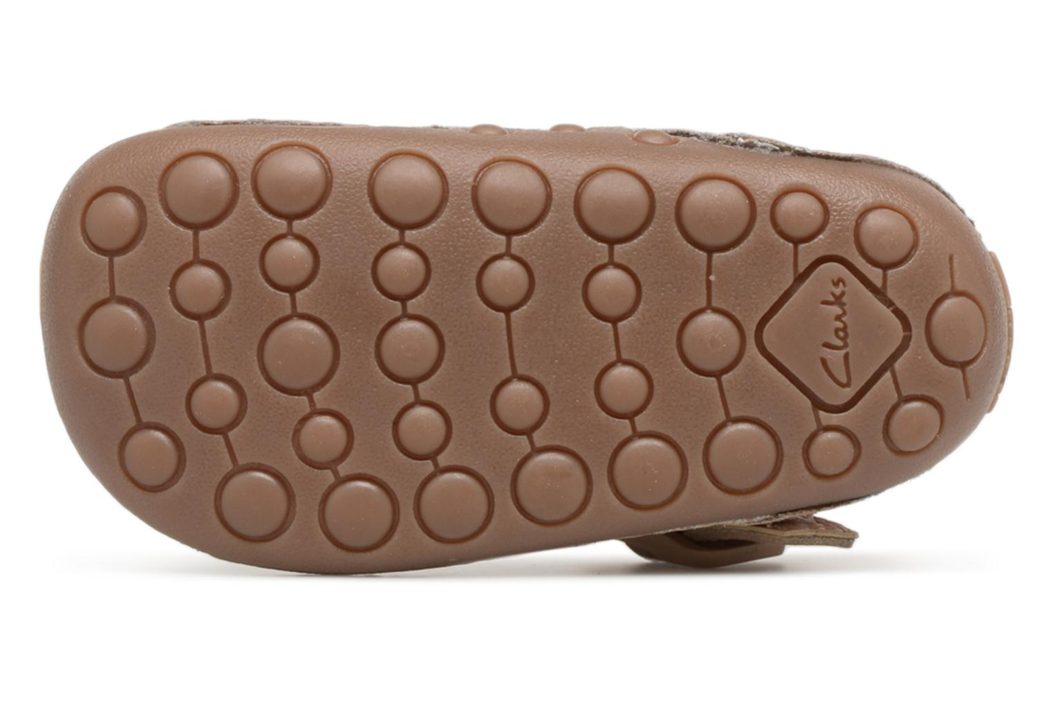 Ballet pumps Clarks Little Weave Beige view from above