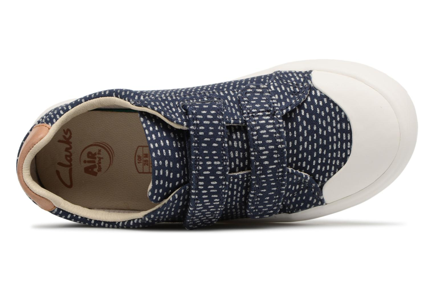 Trainers Clarks Comic Cool Blue view from the left