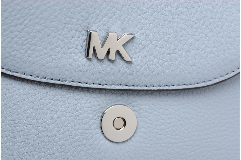 Sacs à main Michael Michael Kors Half Dome Crossbody Bleu vue gauche