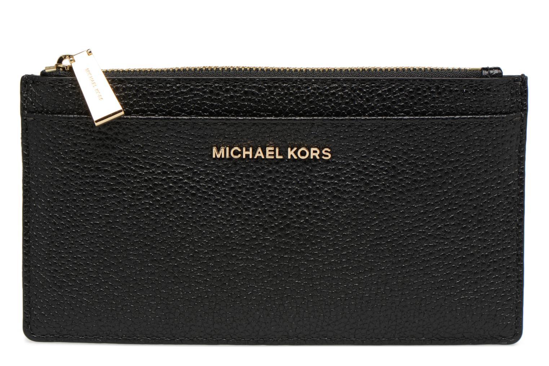 Marroquinería pequeña Michael Michael Kors LG Slim Cardcase Negro vista de detalle / par